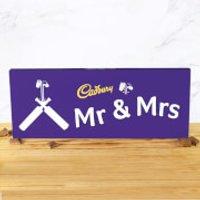 Cadbury Bar 850g - Cricket Bat - Mr & Mrs - Cricket Gifts