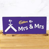 Cadbury Bar 850g - Cricket Bat - Mrs & Mrs - Cricket Gifts