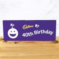 Cadbury Bar 850g - Smiley - 40th Birthday - Smiley Gifts