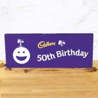 Cadbury Bar 850g - Smiley - 50th Birthday - Smiley Gifts