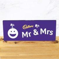 Cadbury Bar 850g - Smiley - Mr & Mrs - Smiley Gifts