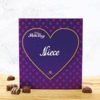 Cadbury Milk Tray - Heart - Niece - Niece Gifts