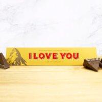 Milk Chocolate Toblerone - I Love You