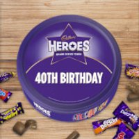 Cadbury Heroes Tin - 40th Birthday - Cadbury Gifts