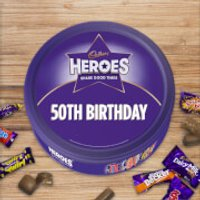 Cadbury Heroes Tin - 50th Birthday - Cadbury Gifts