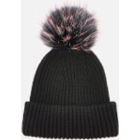 BKLYN Women's Oversized Hat - Black-Cherry