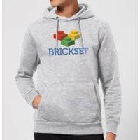 Brickset Logo Hoodie - Grey - L - Grey