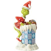 The Grinch By Jim Shore Grinch Climbing into Chimney Figurine - Climbing Gifts
