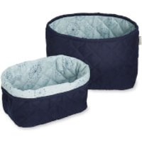 Cam Cam Quilted Storage Baskets - Navy (Set of 2)