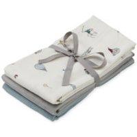 Cam Cam Muslin Cloth - Holiday, Grey, Petroleum (Pack of 3)
