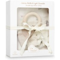 Cam Cam Swaddle and Leaves Rattle Gift Box - Fawn