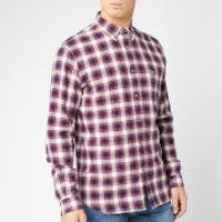 Lacoste Men's Flannel Plaid Shirt - Bordeaux - XL/EU 42
