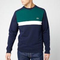 Lacoste Men's Cut and Sew Sweatshirt - Marine - 3/S