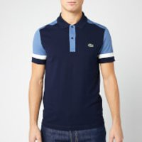 Lacoste Men's Cut and Sew Polo Shirt - Navy - 4/M