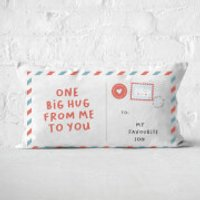 To My Favourite Son Rectangular Cushion - 30x50cm - Soft Touch - Son Gifts