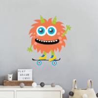 Monster On Skateboard Wall Art Sticker - Skateboard Gifts