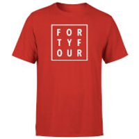 How Ridiculous Forty Four Square T-shirt - Red - S - Red