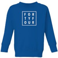 How Ridiculous Forty Four Square Kids' Sweatshirt - Royal Blue - 7-8 Years - Royal Blue