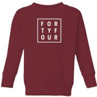 How Ridiculous Forty Four Square Kids' Sweatshirt - Burgundy - 7-8 Years - Burgundy