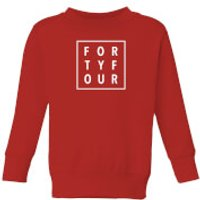 How Ridiculous Forty Four Square Kids' Sweatshirt - Red - 5-6 Years - Red