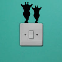Giraffes Light Switch Art - Giraffes Gifts