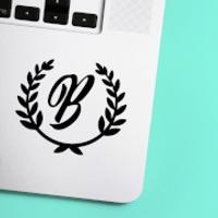 Letter Reef Laptop Sticker - B