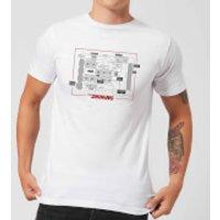 The Shining Floor Plan Men's T-Shirt - White - 3XL - White
