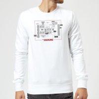 The Shining Floor Plan Sweatshirt - White - S - White