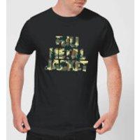 Full Metal Jacket Camo Title Mens T-Shirt - Black - L - Black