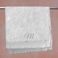 Initial Embroidered Hand Towel - M
