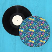 Crazy Pattern Record Player Slip Mat - Crazy Gifts