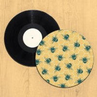 Bumble Bee Hive Record Player Slip Mat - Bee Gifts