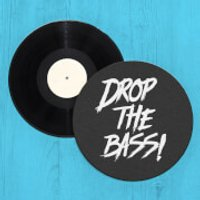 Drop The Bass Record Player Slip Mat - Bass Gifts