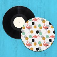 Flamingo Polka Dots Record Player Slip Mat - Flamingo Gifts