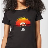 Full Metal Jacket Sunset Distressed Womens T-Shirt - Black - M - Black