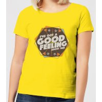 Crystal Maze I've Got A Good Feeling About This- Aztec Women's T-Shirt - Yellow - S - Yellow