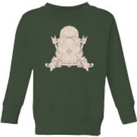 Crystal Maze Fast And Safe Crest Kids' Sweatshirt - Forest Green - 3-4 Years - Forest Green
