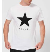 David Bowie Star Men's T-Shirt - White - 4XL - White