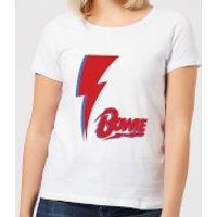 David Bowie Bolt Women's T-Shirt - White - M - White