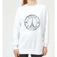 Paris France Women's Sweatshirt - White - S - White