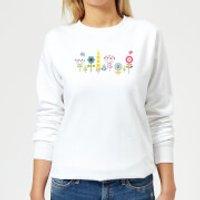 Childish Flowers 1 Women's Sweatshirt - White - XL - White