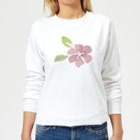Pink Flower 2 Women's Sweatshirt - White - XS - White