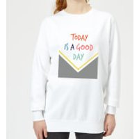 Today Is A Good Day Pattern Women's Sweatshirt - White - 3XL - White