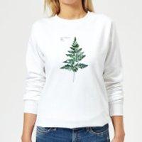 Fern Leaf Women's Sweatshirt - White - M - White