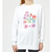 Flower Garden Women's Sweatshirt - White - S - White