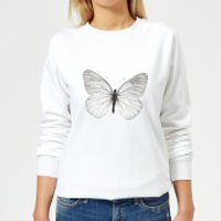 Butterfly 2 Women's Sweatshirt - White - 4XL - White