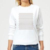 Repeat Love Heart Women's Sweatshirt - White - M - White