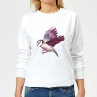 Blue Tit In Flight Women's Sweatshirt - White - S - White