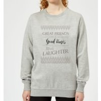Great Friends + Good Times = Much Laughter Women's Sweatshirt - Grey - XXL - Grey - Laughter Gifts