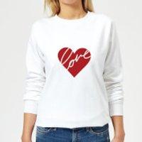 Heat Love Scribble Women's Sweatshirt - White - XS - White